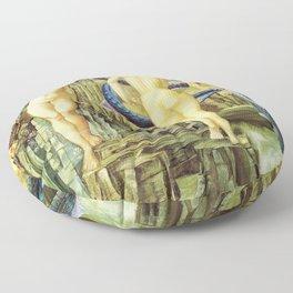 Edward Burne-Jones  - Perseus and Andromeda - Digital Remastered Edition Floor Pillow