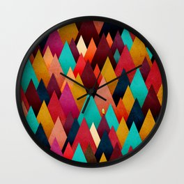 072 – deep into the autumn forest texture III Wall Clock