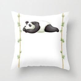 Nap Lazy Sleeping Napping Kid Cute Panda Animal Throw Pillow