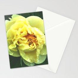 Yellow peony Stationery Cards