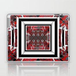 NUMBER 221 RED BLACK GRAY WHITE PATTERN Laptop & iPad Skin
