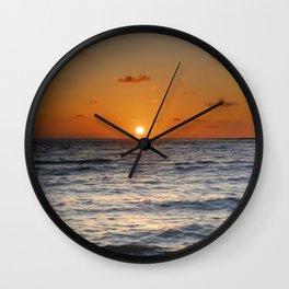 """""""Sancti Petri beach sunset"""" Wall Clock"""