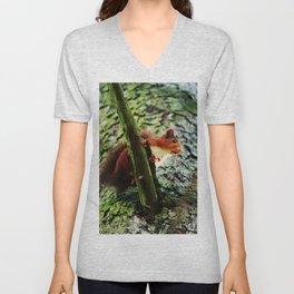 Red Squirrel 1 Unisex V-Neck