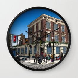 London Blue Sky Wall Clock