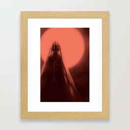 Red Moon (#Drawlloween2016 Series) Framed Art Print