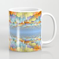 sci fi Mugs featuring Sci Fi Horizons by Phil Perkins