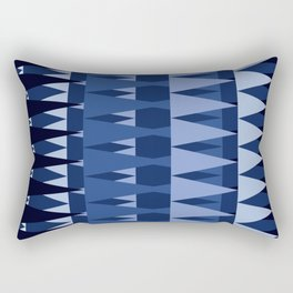 A Forest Pattern in Sea Blues Rectangular Pillow