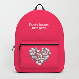 Just Love. (white text) Backpack