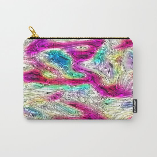 Abstract Pearlescent Rainbow Carry-All Pouch