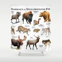 Mammals of Yellowstone Park Shower Curtain