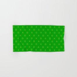 Green Gamer Pattern Hand & Bath Towel