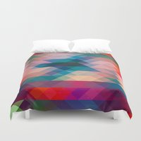 triangle Duvet Covers featuring TRIANGLE by Hands in the Sky