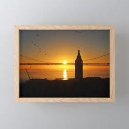 Sunrise at the Ferry Building Framed Mini Art Print