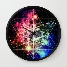 Rainbow Flower of Life : Sacred Geometry Wall Clock