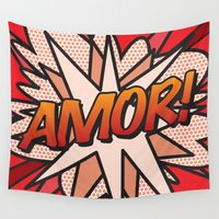 comic book Wall Tapestries featuring Comic Book AMOR! by The Image Zone