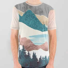 Lake Sunrise All Over Graphic Tee
