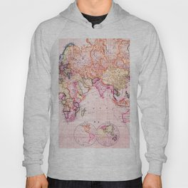 Vintage Map Pattern Hoody
