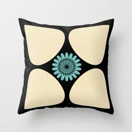 Tear Drop Flower Petals Inset Sunflower Graphic Throw Pillow