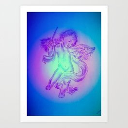 Heavenly apparition  Angel Music Art Print