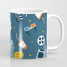 Movie Night Whimsical Pattern Coffee Mug