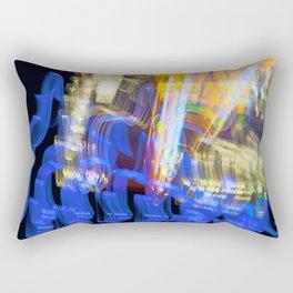 Lights at Night  -  Long Exposure Rectangular Pillow