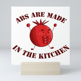 Six-Pack Tomato - Abs are made in the Kitchen Mini Art Print
