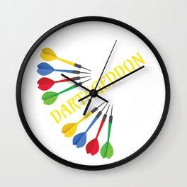 Darts Fun Dartaggedon Darts Lover Wall Clock