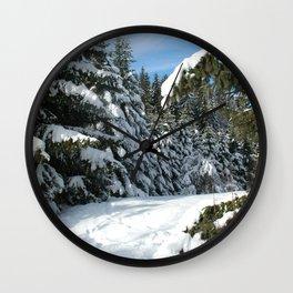 Snowy Meadow Wall Clock