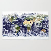 planet Area & Throw Rugs featuring PLANET by Planet Prints