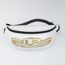 Colombian Sombrero Vueltiao in Gold Leaf Style Fanny Pack