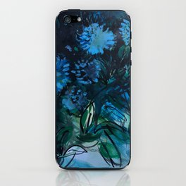 Blue Blossoms iPhone Skin