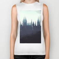 dumbledore Biker Tanks featuring Harry Potter - Hogwarts by Juniper Vinetree