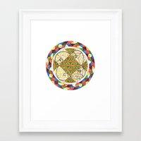 fibonacci Framed Art Prints featuring FIBONACCI  by Caitie Magraw
