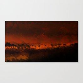 Wild fire landscape nature illustration Canvas Print