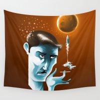 lunar Wall Tapestries featuring Lunar dream by Janne Harju