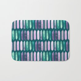 Love More Crystals Collection in Teal; Amythest, Rose Quartz, Calcite, Fluorite Bath Mat