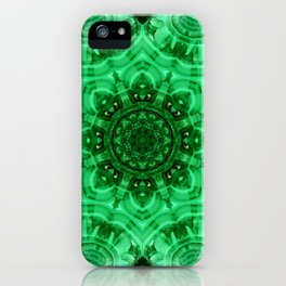 Malachite Star Mandala iPhone Case
