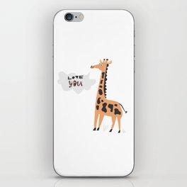Love Giraffe iPhone Skin