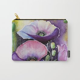 Field poppies, watercolor Carry-All Pouch