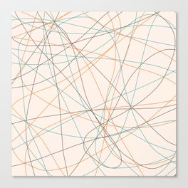 Colored Line Chaos #21 Canvas Print
