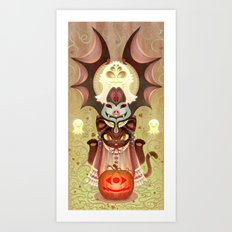 Trick-or-Treat Totem Art Print