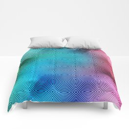 Colourful Circles Background Comforters