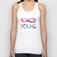forever young Tank Tops featuring Forever Young by Jacqueline Maldonado