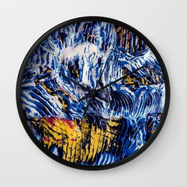 Hokusai's Wave Abstracted Wall Clock