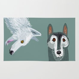 Totem Canadian wolf 2 Rug