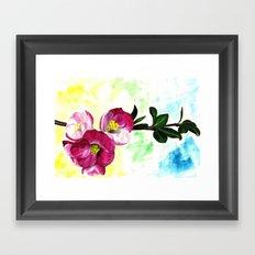 Blossom Spray Framed Art Print