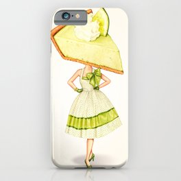 Cake Head Pin-Up: Key Lime Pie iPhone Case
