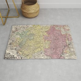 Vintage Luxembourg Map (1730) Rug