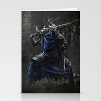 dark souls Stationery Cards featuring Artorias (Dark Souls fanart) by Artur Jag