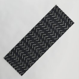 Mudcloth Big Arrows in Black and White Yoga Mat